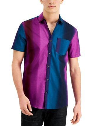 MEN INC Men's Colorblocked Striped Shirt, Created for Macy's
