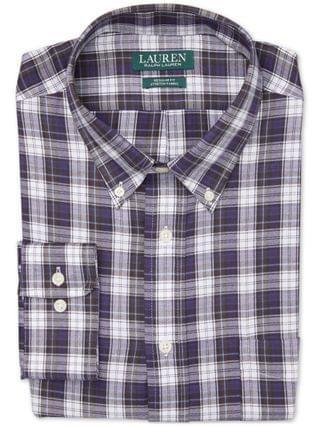 MEN Plaid Regular-Fit Dress Shirt