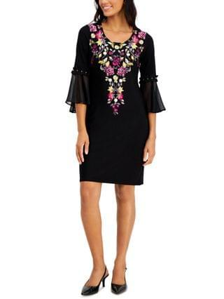 WOMEN Petite Embroidered Dress, Created for Macy's