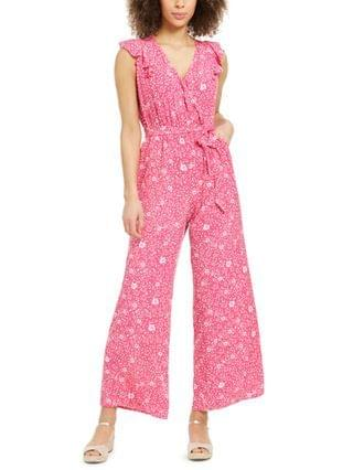 WOMEN Petite Printed Flutter-Sleeve Jumpsuit, Created for Macy's