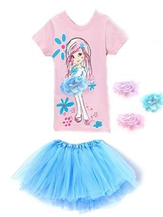 KIDS Little Girls Top and Tutu Skirt Set