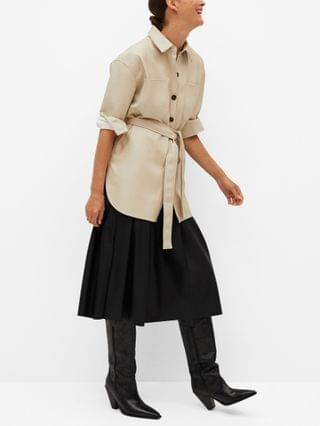 WOMEN Faux Leather Overshirt