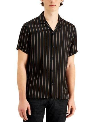 MEN INC Men's Vertical Stripe Shirt, Created for Macy's