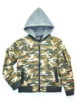 KIDS Big Boys Blaze Padded Bomber Jacket with Hood