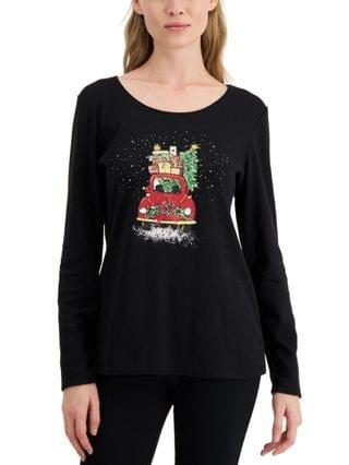 WOMEN Joy Ride Graphic Top, Created for Macy's