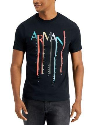 MEN A X Armani Exchange Men's Colorful Falling Logo T-shirt