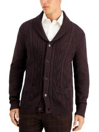MEN Chunky Marbled Cardigan, Created for Macy's