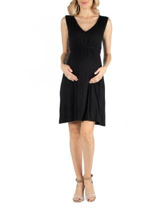 WOMEN Sleeveless V Neck Empire Waist Maternity Cocktail Dress