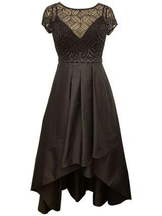 WOMEN Beaded High-Low Gown
