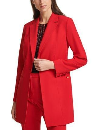 WOMEN Petite Single-Button Topper Jacket