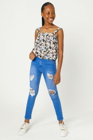 KIDS High Waisted Skinny Fit Jeans