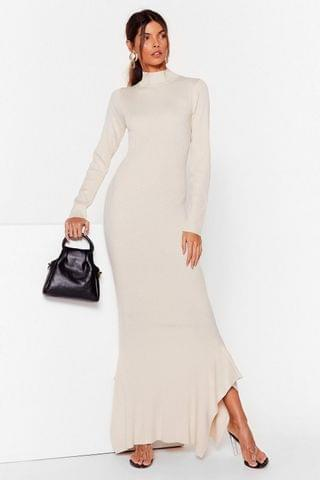 WOMEN This Frill Do Ribbed Maxi Dress