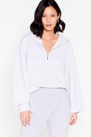 WOMEN Zip's the New Style High Neck Relaxed Sweatshirt