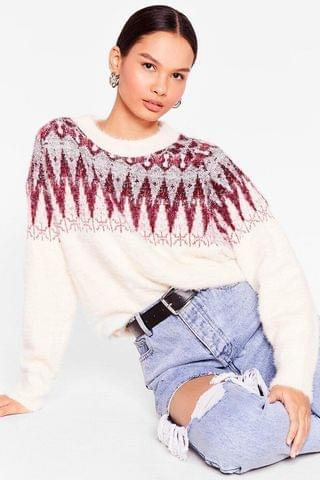 WOMEN Christmas Feather Tinsel Jumper