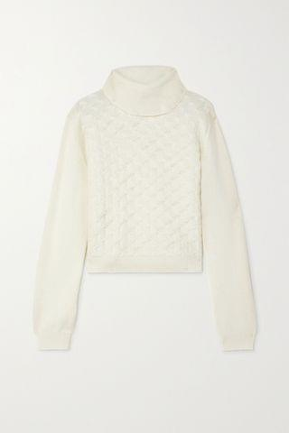 WOMEN YOOX NET-A-PORTER FOR THE PRINCE'S FOUNDATION Cable-knit cashmere turtleneck sweater
