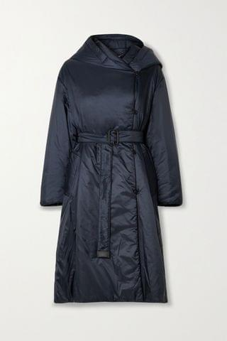 WOMEN MAX MARA The Cube Cameluxe belted hooded padded shell coat