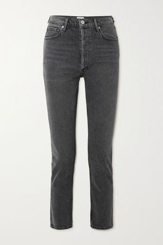 WOMEN CITIZENS OF HUMANITY Charlotte cropped high-rise straight-leg jeans
