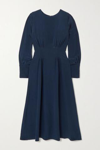 WOMEN YOOX NET-A-PORTER FOR THE PRINCE'S FOUNDATION Pleated organic silk midi dress