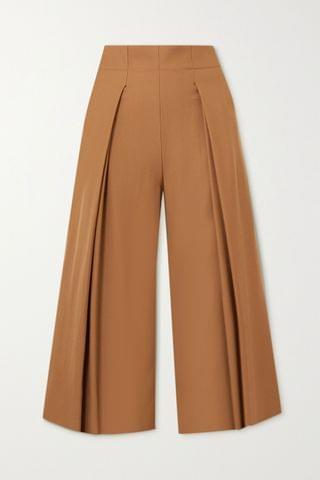 WOMEN YOOX NET-A-PORTER FOR THE PRINCE'S FOUNDATION Pleated merino wool culottes