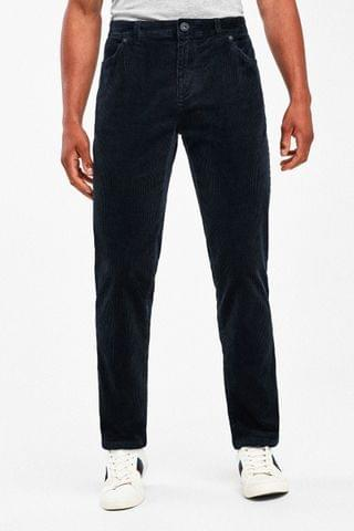 MEN Navy Jean Style Cord Trousers