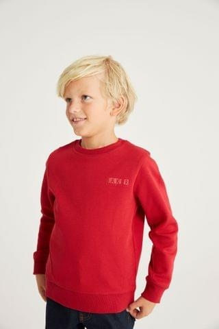KIDS Baker by Ted Baker Red Crew Neck Sweater