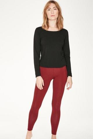 WOMEN Thought Red Bamboo Base Layer Leggings