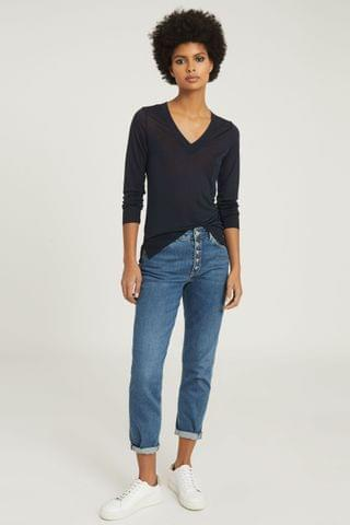 WOMEN Reiss Sylvie V-Neck Top