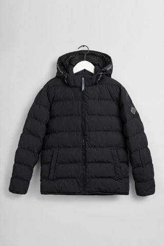 KIDS GANT Black Lock-Up Stripe Padded Jacket