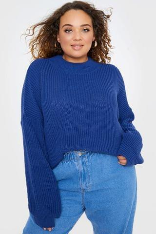 WOMEN In The Style Curve Billie Faiers Balloon Sleeve Jumper