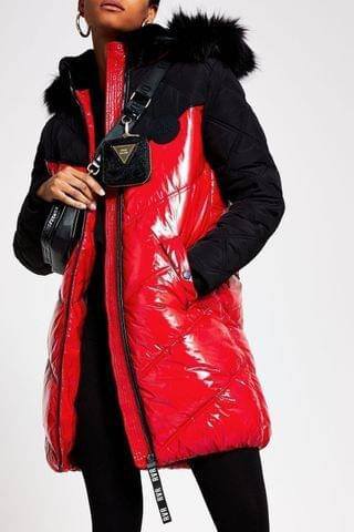WOMEN River Island Red Ll Chubby Padded Jacket