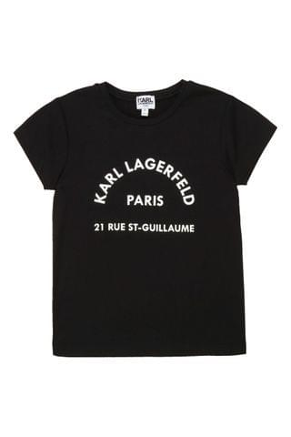 KIDS Karl Lagerfeld Black Address Logo T-Shirt