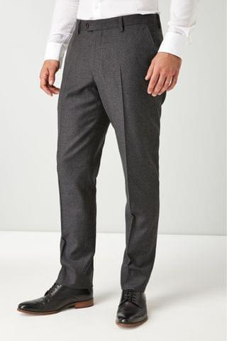 MEN Charcoal Empire Mills Signature British Wool Flannel Suit Trousers
