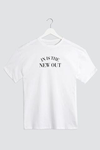 WOMEN Simply Be In Is The New Out Slogan T-Shirt