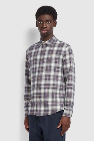 MEN Farah Grey Bushell Check Shirt