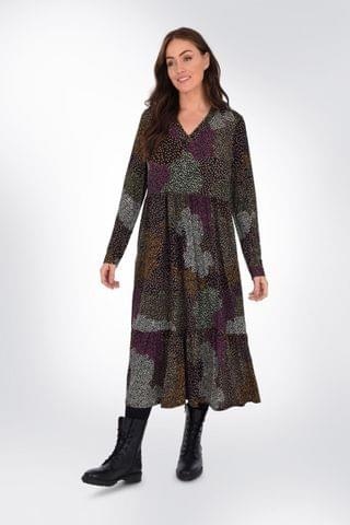 WOMEN Live Unlimited Curve Mix & Match Ditsy Tiered Dress