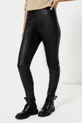 WOMEN Urban Code Leather Trousers