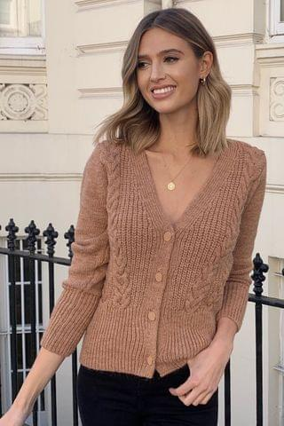 WOMEN Lipsy Crop Cable Cardigan