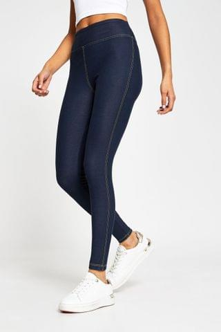 WOMEN River Island Dark Denim Look Leggings
