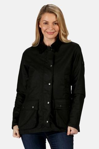 WOMEN Regatta Black Lady Country Wax Jacket
