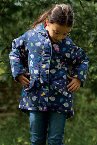 KIDS Frugi Blue 100% Recycled Waterproof Winter Coat