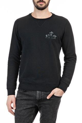 MEN Replay Black Small Logo Sweater