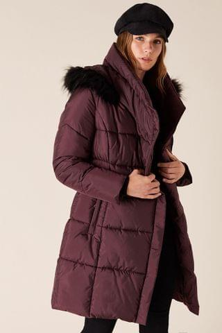 WOMEN Monsoon Patsy Sustainable Long Padded Coat