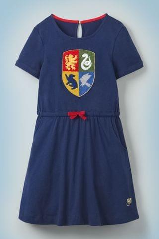 KIDS Mini Boden Harry Potter Hogwarts Crest Dress