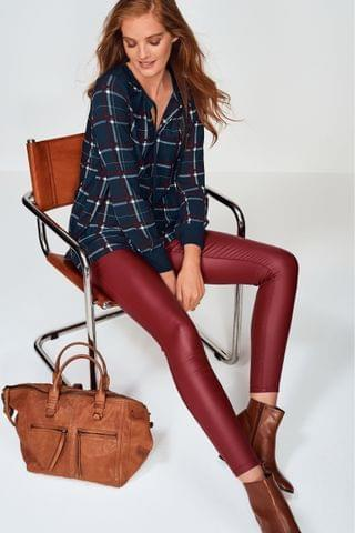 WOMEN Red Coated Skinny Jeans