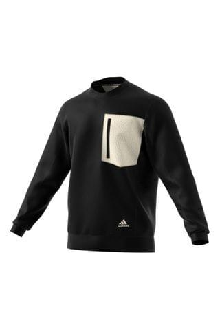MEN adidas Black Winterized Crew Sweater