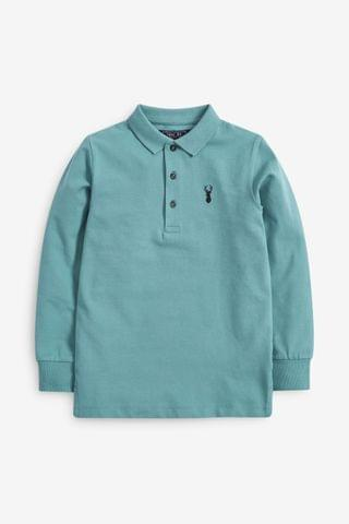 KIDS Duck Egg Textured Poloshirt (3-16yrs)