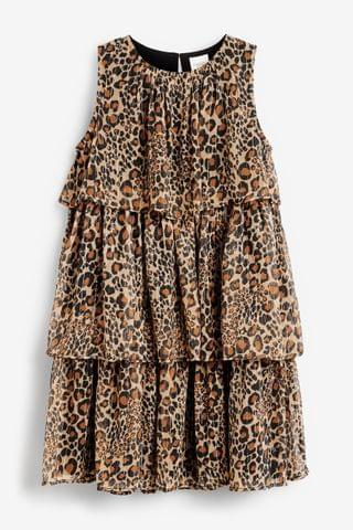 KIDS Animal Tiered Party Dress (3-16yrs)