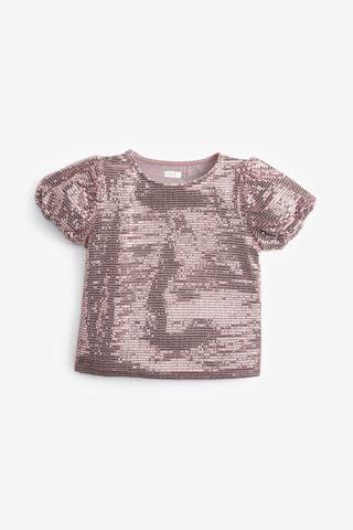 KIDS Pink Party Sequin Top (3-16yrs)