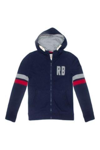 KIDS Raging Bull Blue Boys Zip Thru Hoody