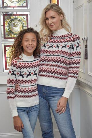 KIDS Fashion Union Girls High Neck Christmas Jumper